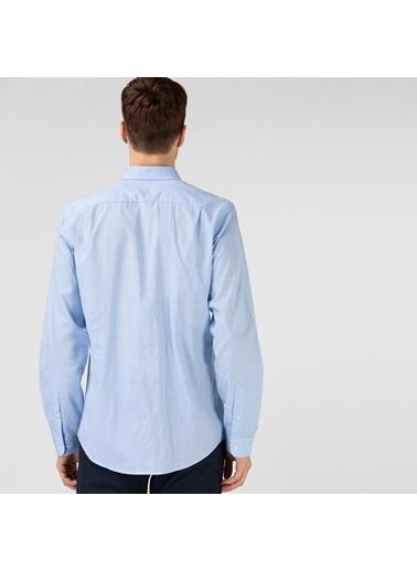Lacoste Erkek Slim Fit Gömlek CH0124.24M Mavi